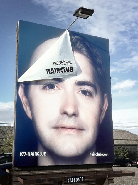 Hair Club - Restore it 3D Billboard