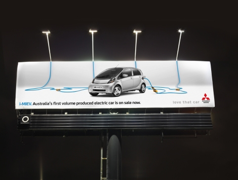 Mitsubishi i-Miev - iMiEV Electric Billboard